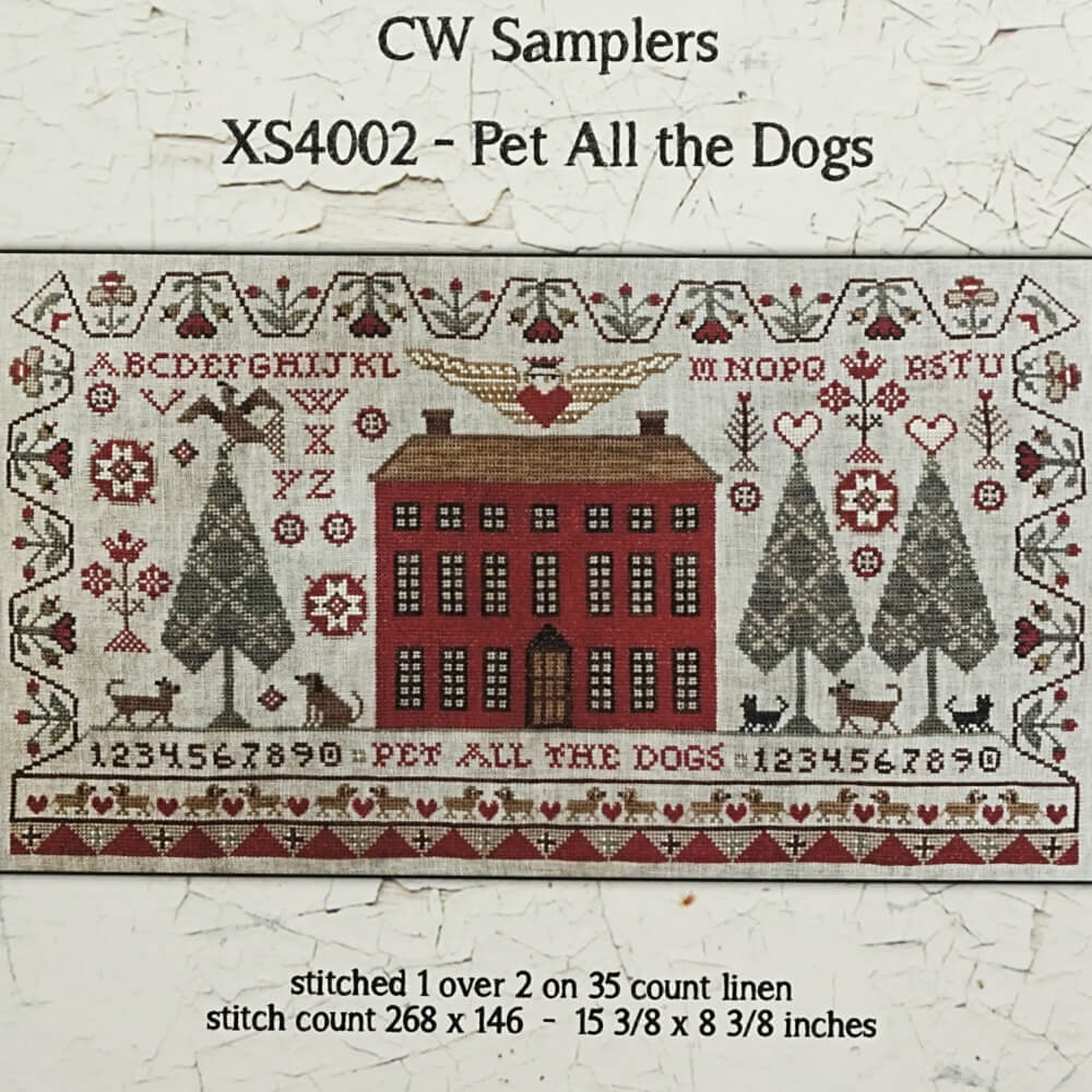 Pet All the Dogs counted cross stitch pattern