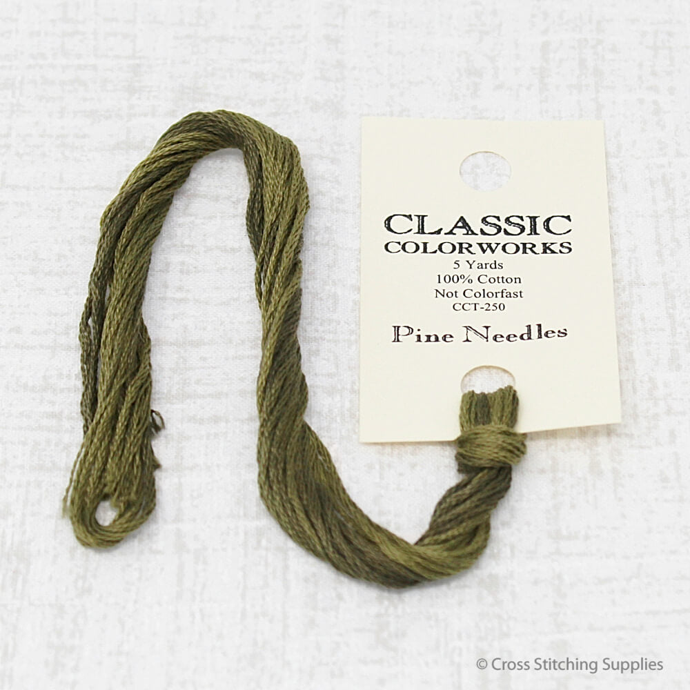 Pine Needles Classic Colorworks embroidery floss