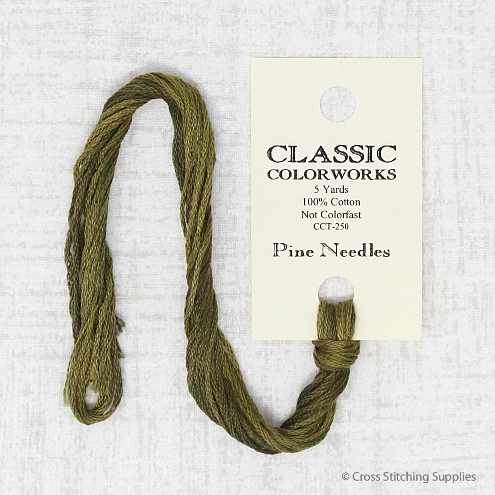 Pine Needles Classic Colorworks embroidery thread