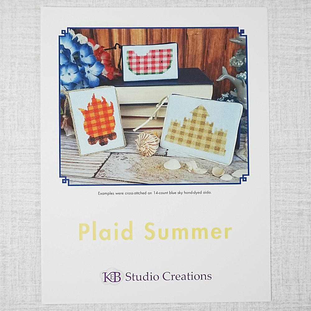 Plaid Summer patterns for sale by KEB studio creations