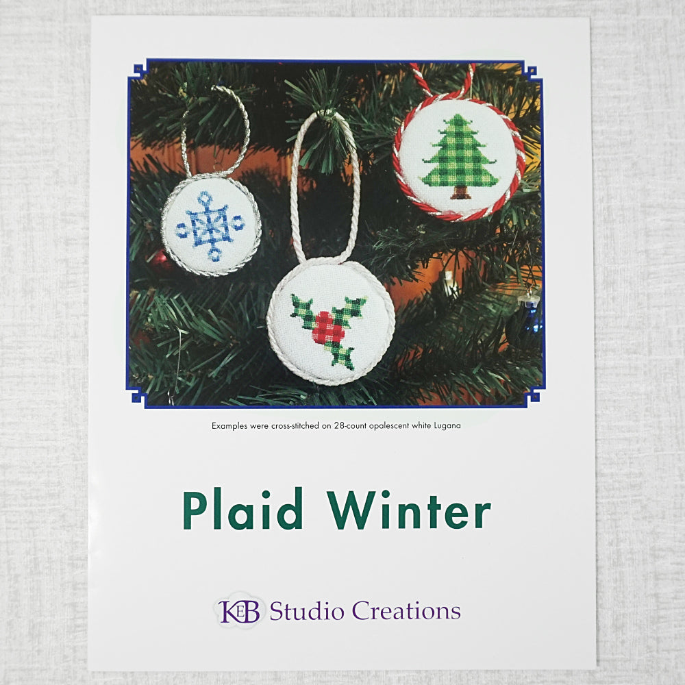 Plaid Winter patterns for sale by KEB studio creations