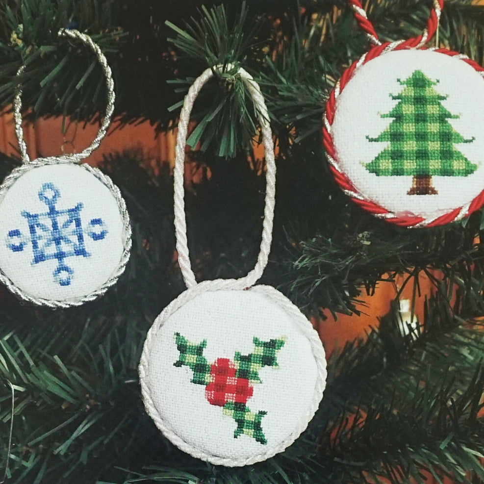 Plaid Winter counted cross stitch patterns