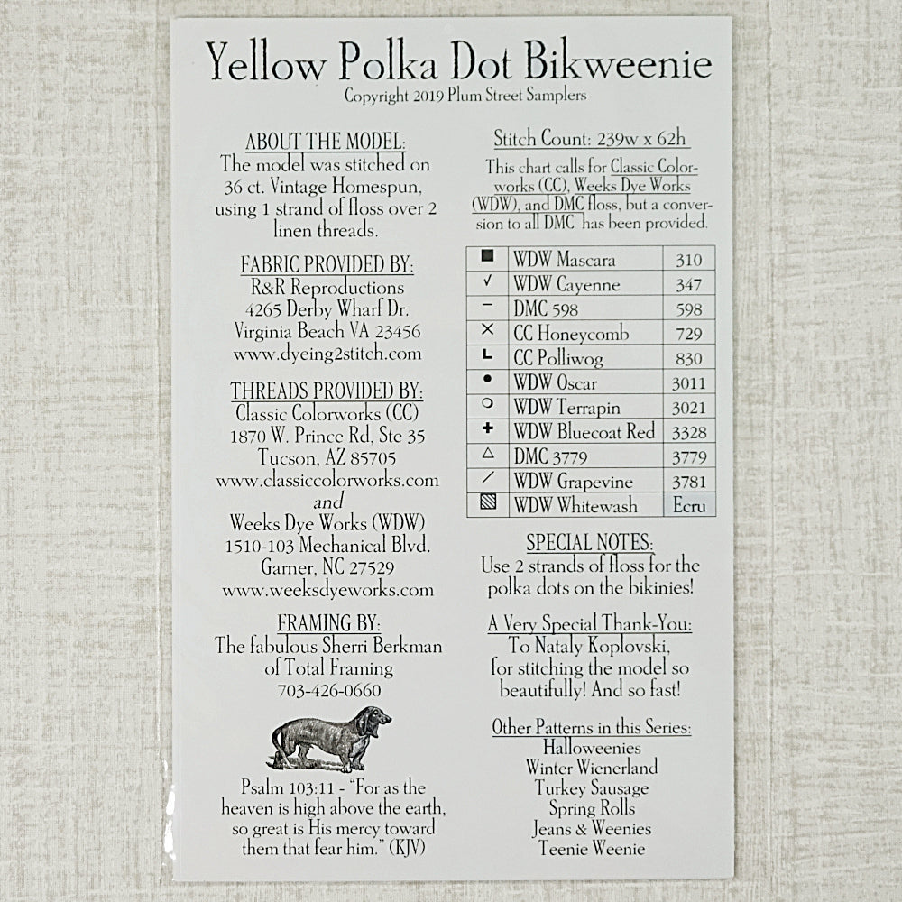 Yellow Polka Dot Bikweenie pattern for sale