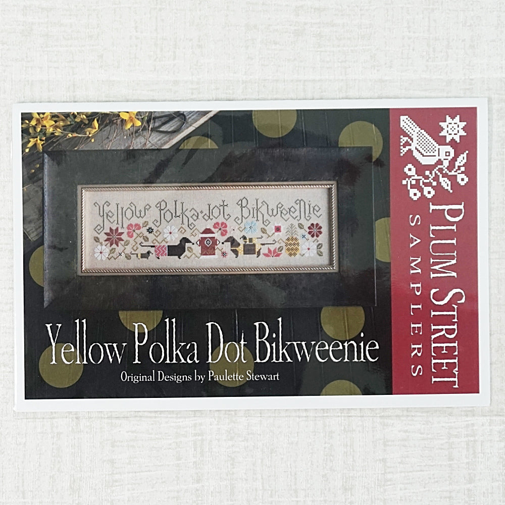 Yellow Polka Dot Bikweenie by Plum Street Samplers