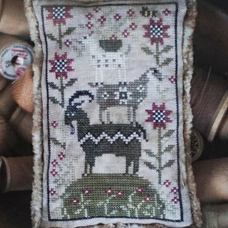 Goat Load counted cross stitch chart