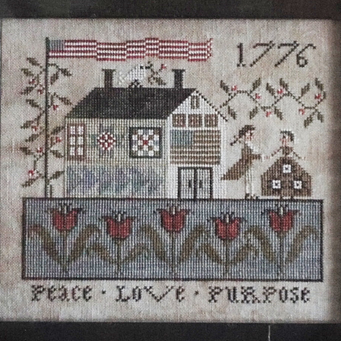 Peace, Love & Purpose counted cross stitch chart