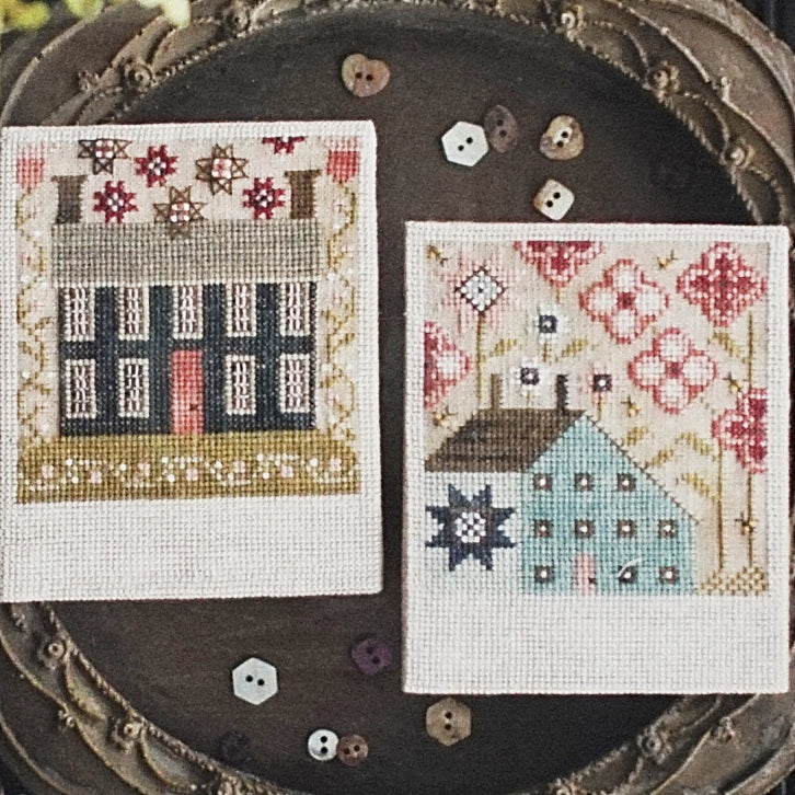 Spring Saltboxes counted cross stitch chart