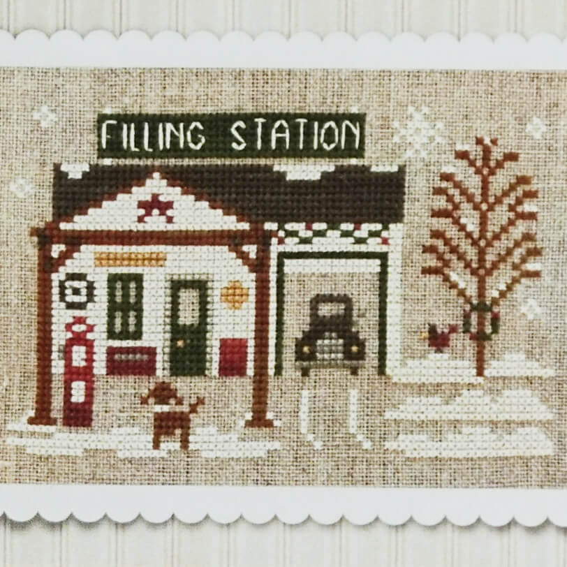 Pops Filling Up Station counted cross stitch pattern
