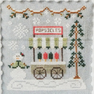 Popsicle Cart counted cross stitch pattern