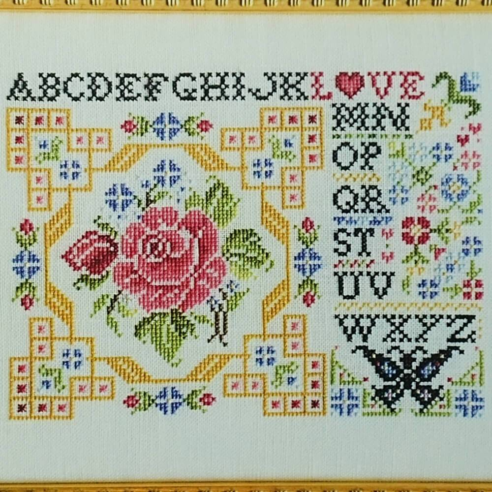 Postcard of Love counted cross stitch pattern