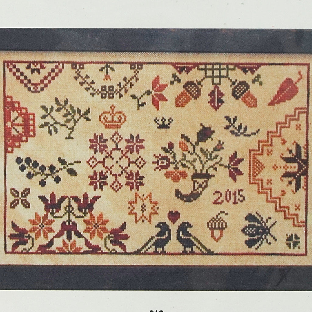 Autumn Quaker counted cross stitch chart
