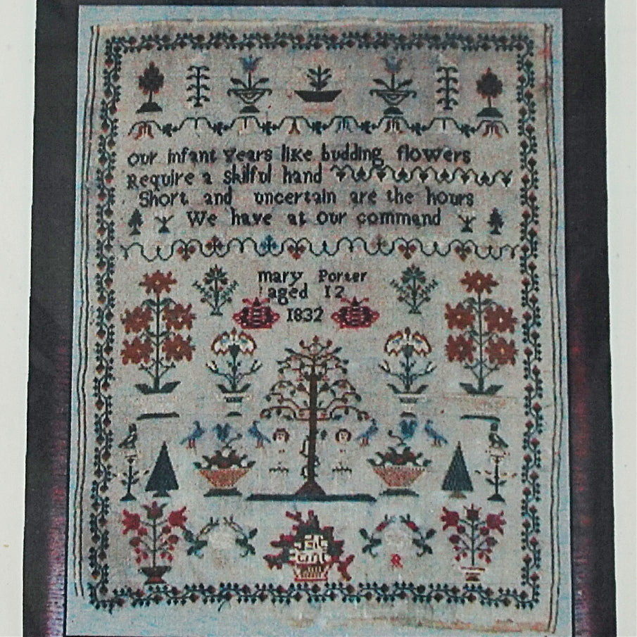 Mary Porter 1832 counted cross stitch chart