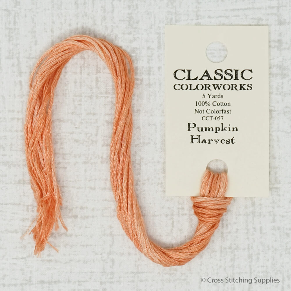 Pumpkin Harvest Classic Colorworks embroidery thread