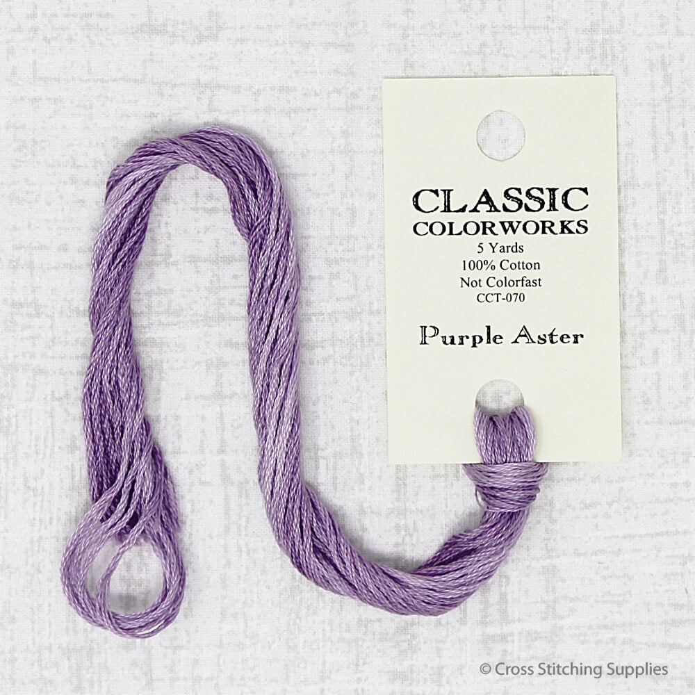 Purple Aster Classic Colorworks embroidery thread