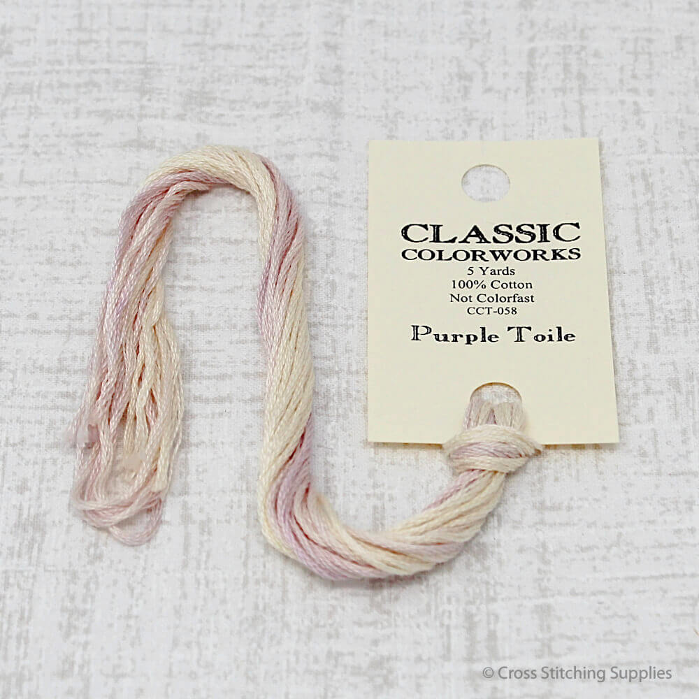 Purple Toile Classic Colorworks embroidery floss
