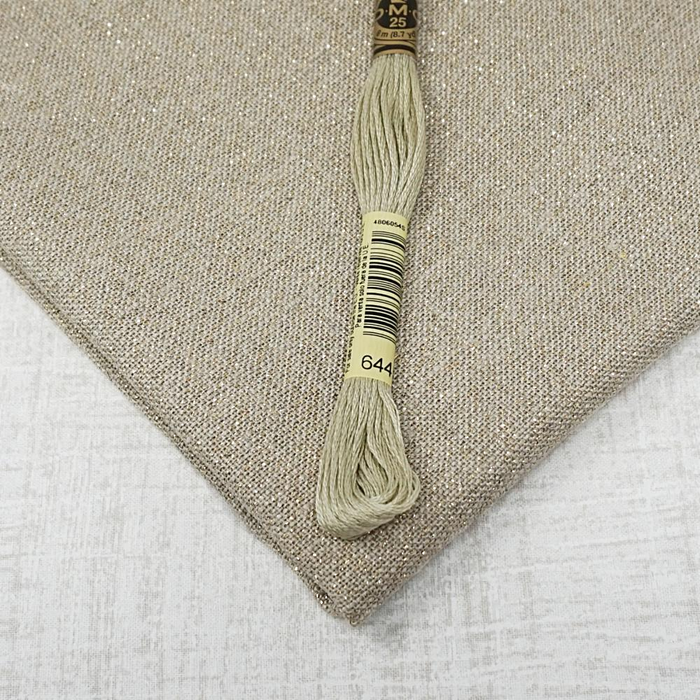 Raw with gold 32 count belfast linen from Zweigart for sale