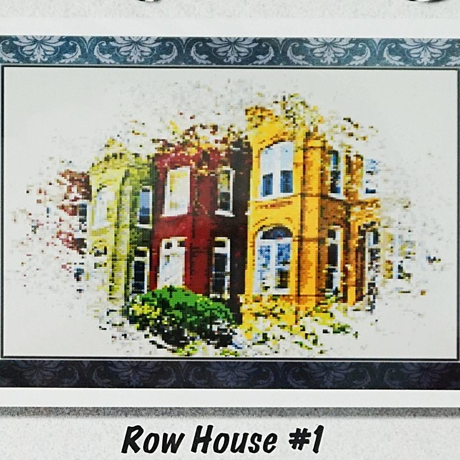 Row House 1 counted cross stitch chart