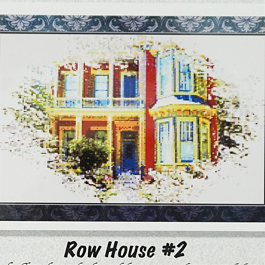 Row House 2 counted cross stitch chart