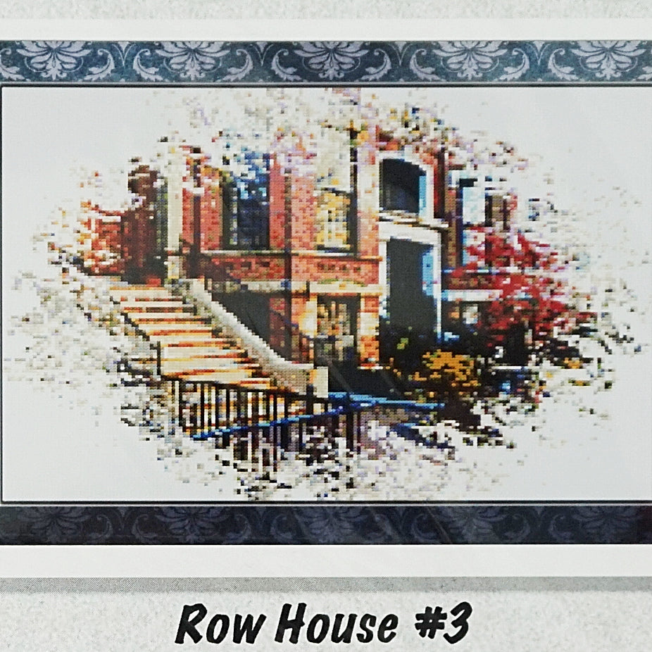 Row House 3 counted cross stitch chart