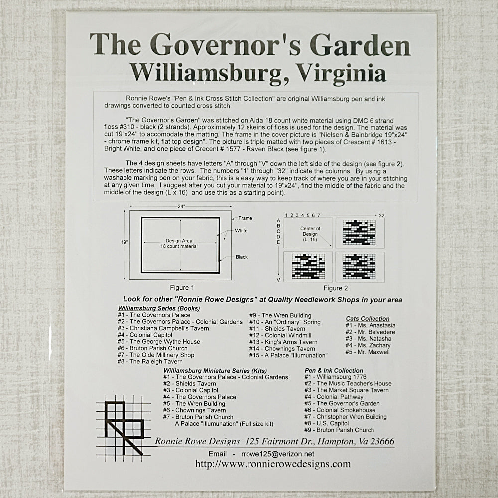 The Governor's Garden pattern for sale