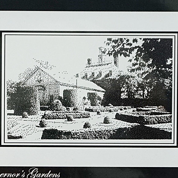 The Governor's Garden counted cross stitch chart