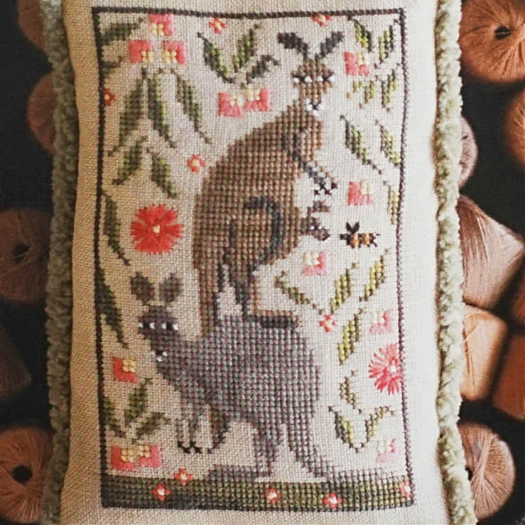 Roo Crew counted cross stitch pattern