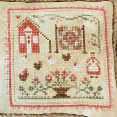 The Rooster and the Hens counted cross stitch pattern