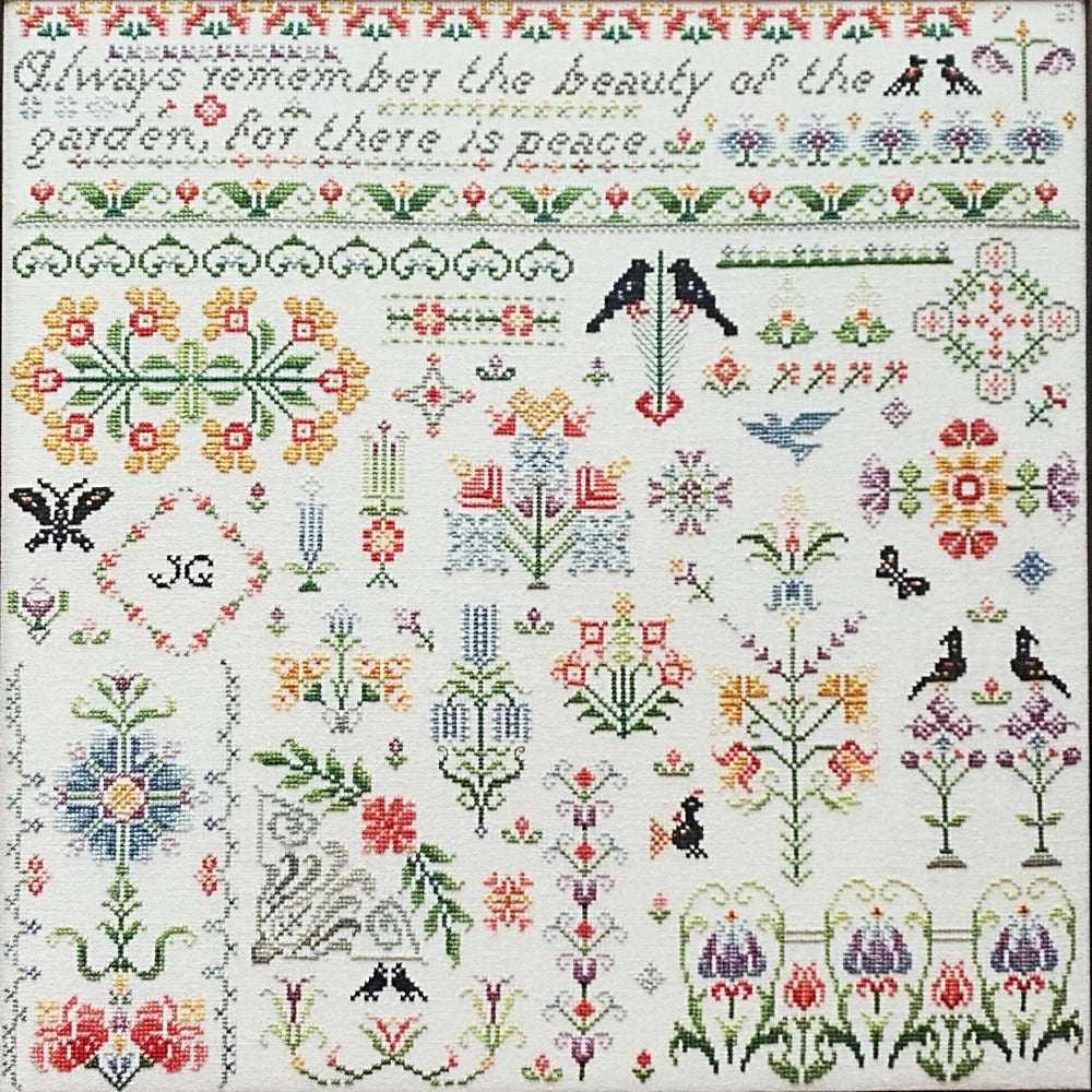 Bramley Garden counted cross stitch chart