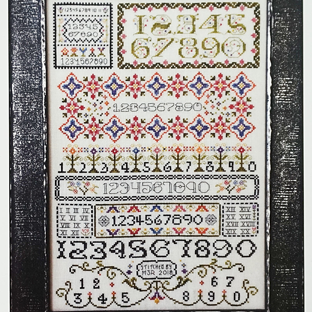 By the Numbers counted cross stitch chart