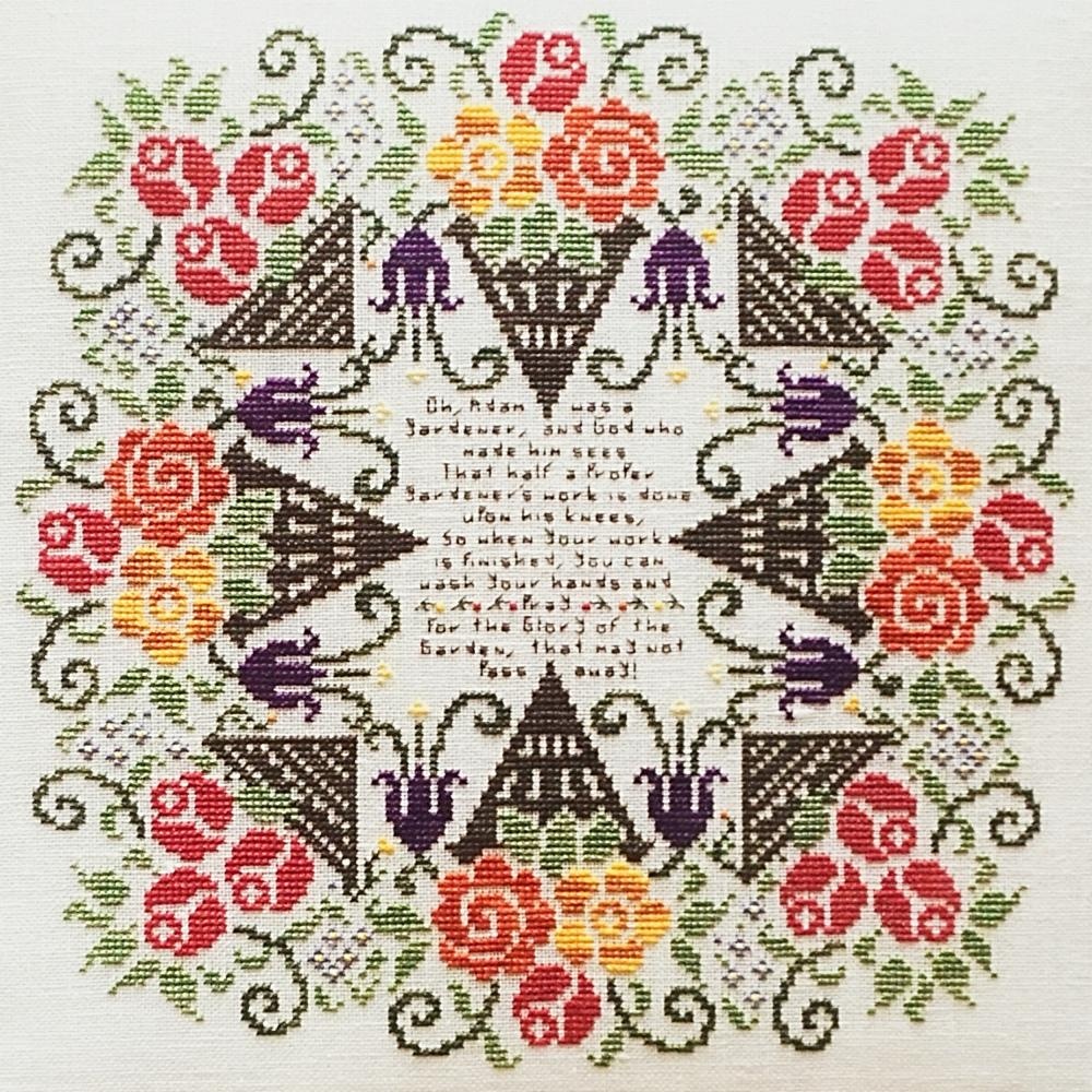 Glory to the Garden counted cross stitch chart