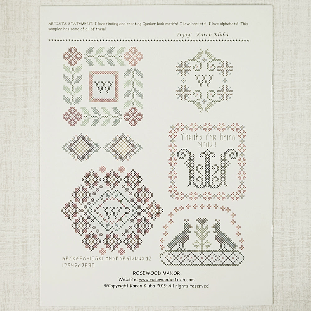 Grayfriar's Sampler pattern for sale