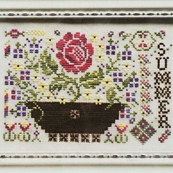 Summer counted cross stitch chart