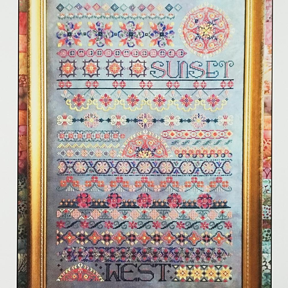 Sunset counted cross stitch chart