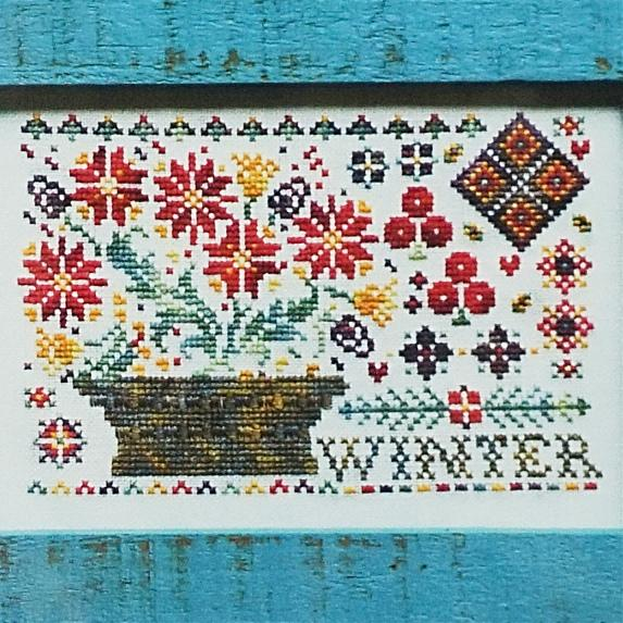 Winter counted cross stitch chart