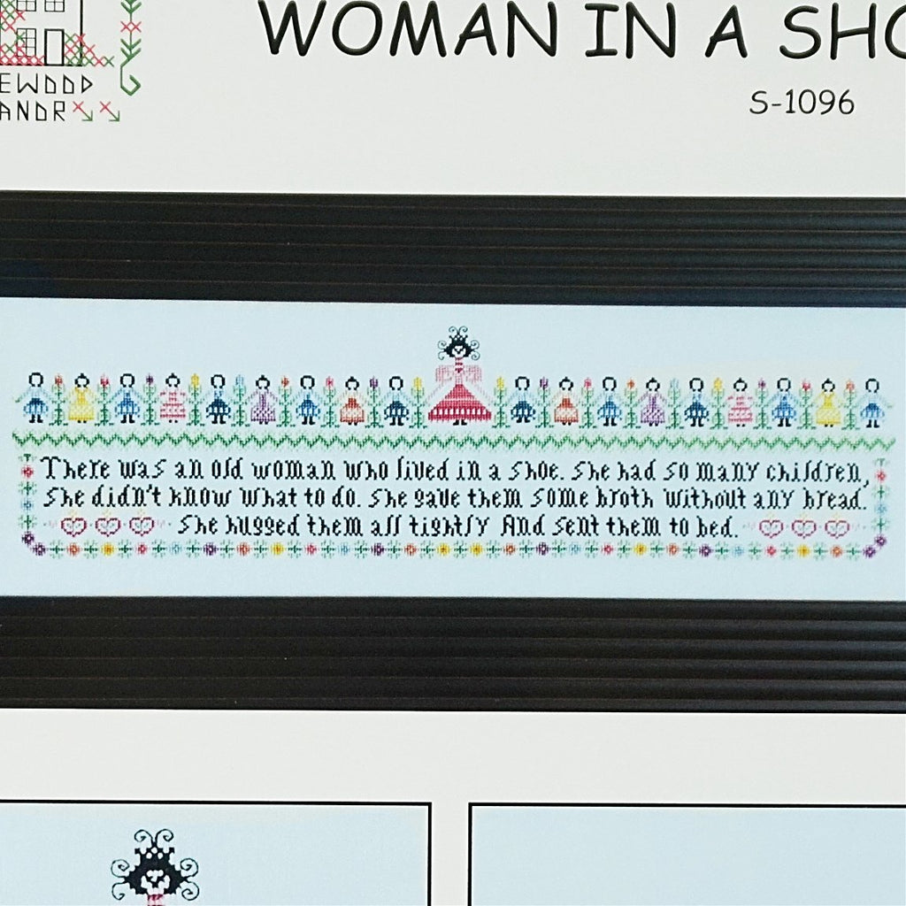 Woman in a Shoe counted cross stitch chart