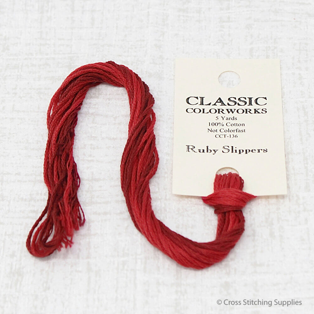 Ruby Slippers Classic Colorworks embroidery floss