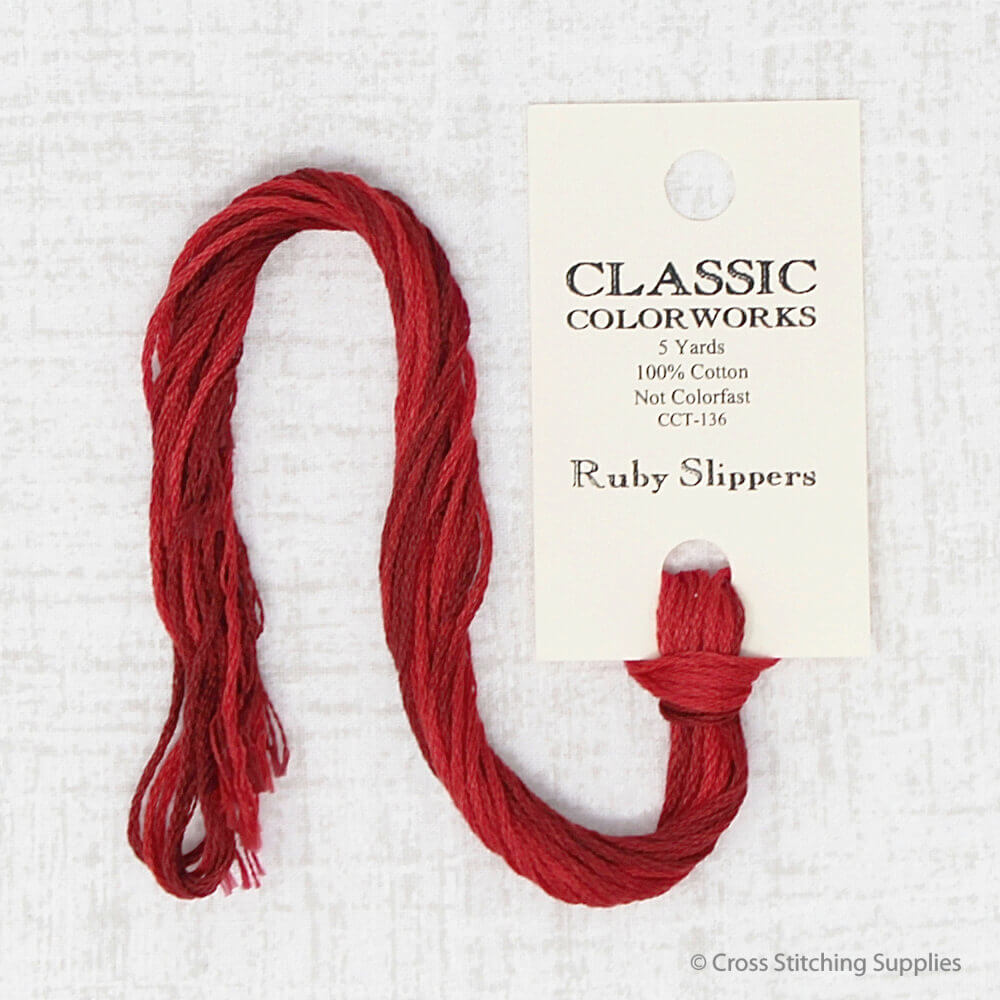 Ruby Slippers Classic Colorworks embroidery thread