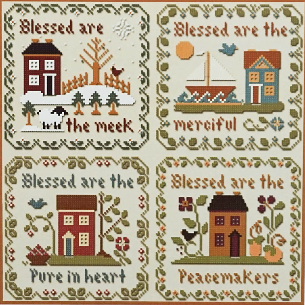 Saltbox Scriptures counted cross stitch patterns