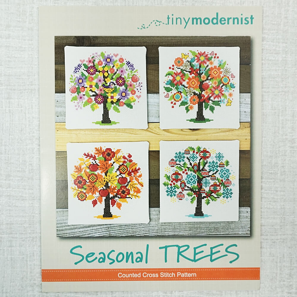 Seasonal Trees pattern by Tiny Modernist