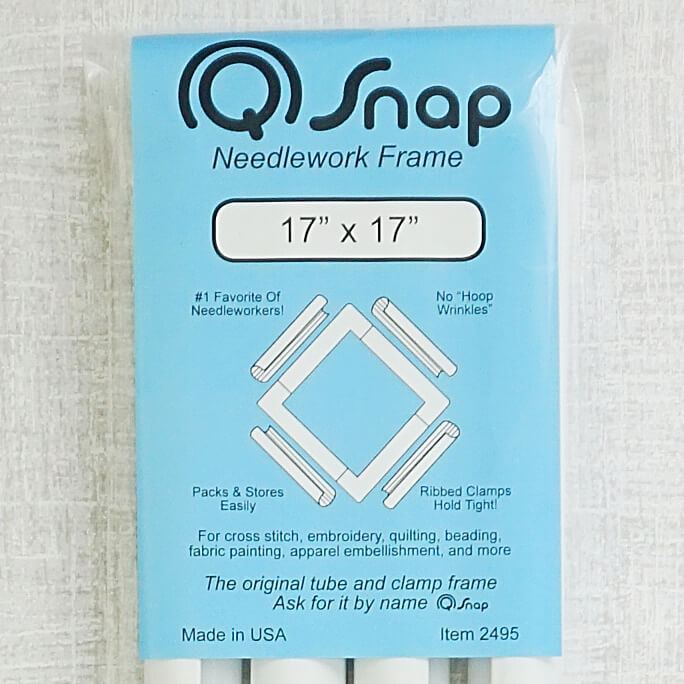 17 inch by 17 inch q-snap Needlework frame close up