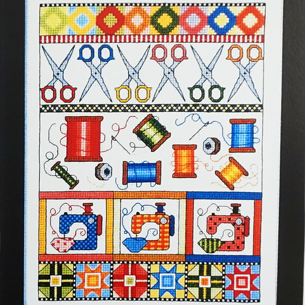 Sewing Sampler counted cross stitch pattern