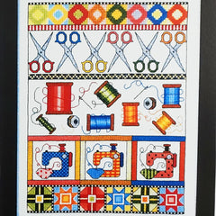 Sewing Sampler Cross Stitch Pattern | Bobbie G. Designs