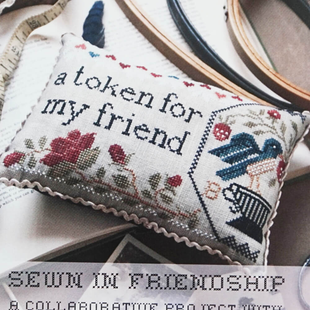 Sewn in Friendship counted cross stitch pattern