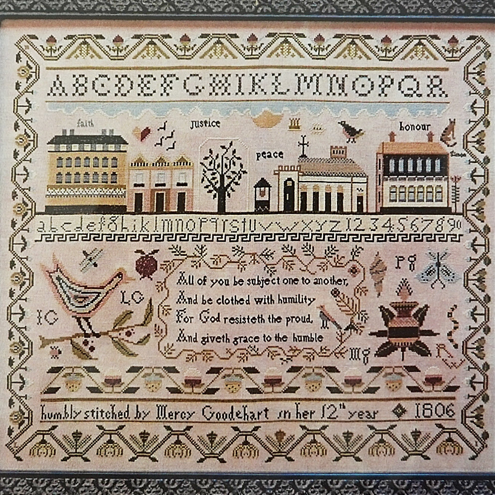 Mercy Goodehart's Sampler counted cross stitch pattern