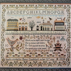 Mercy Goodehart's Sampler Cross Stitch Pattern | Shakespeare's Peddler