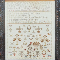 A Spring Sampler: Ann Hobbs 1834 Cross Stitch Pattern | Shakespeare's Peddler