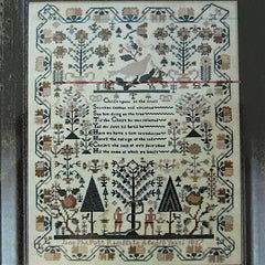 Jane Philpott 1837: An Adam & Eve Sampler Cross Stitch Pattern | Shakespeare's Peddler