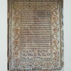 Mary Bate 1796 Cross Stitch Pattern | Shakespeare's Peddler