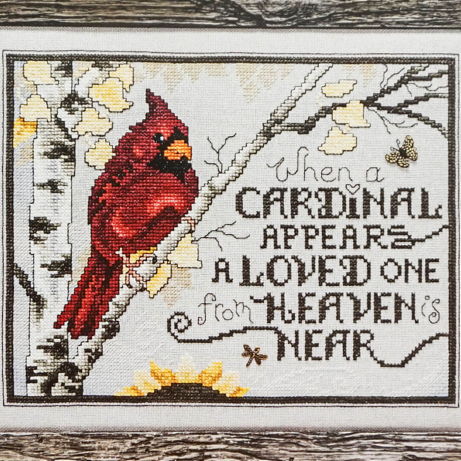 Sign From Heaven counted cross stitch pattern