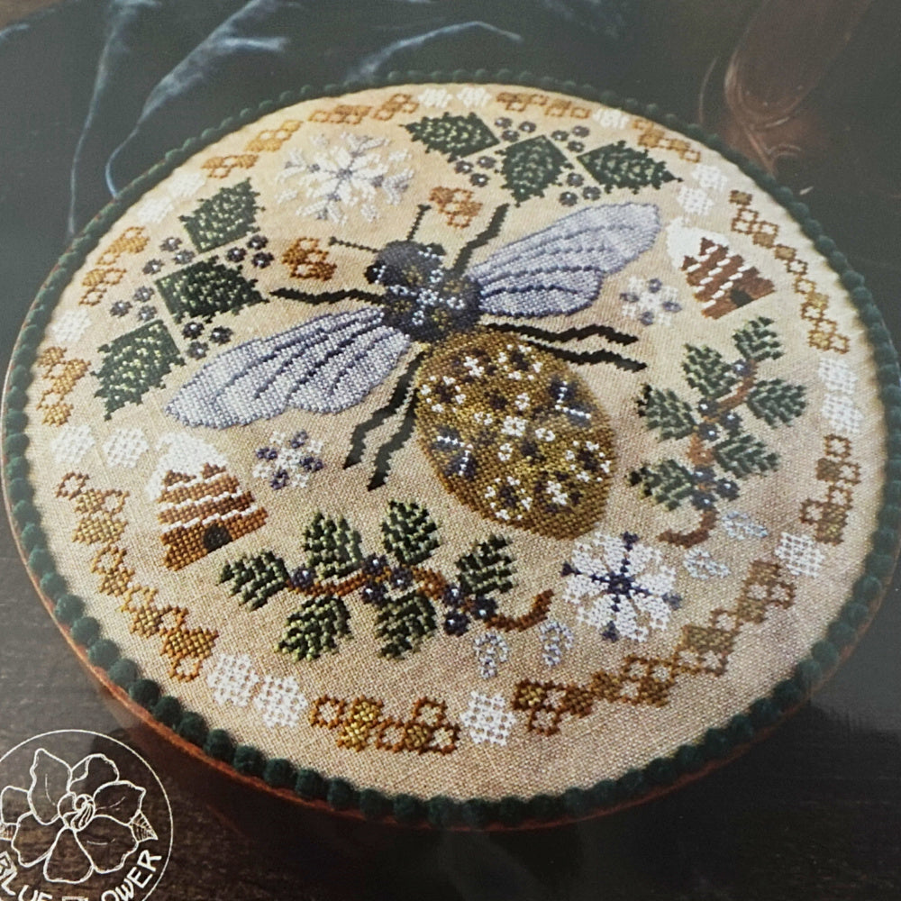 Sleeping Bee counted cross stitch pattern